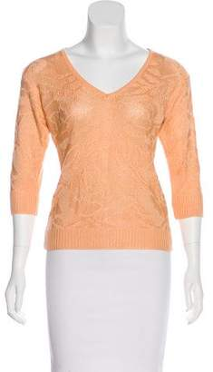 Courreges Knit V-Neck Sweater