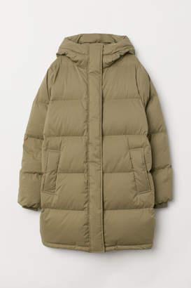 H&M Long Down Jacket - Green