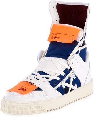 Off-White Off White Men's High 3.0 Leather High-Top Sneakers