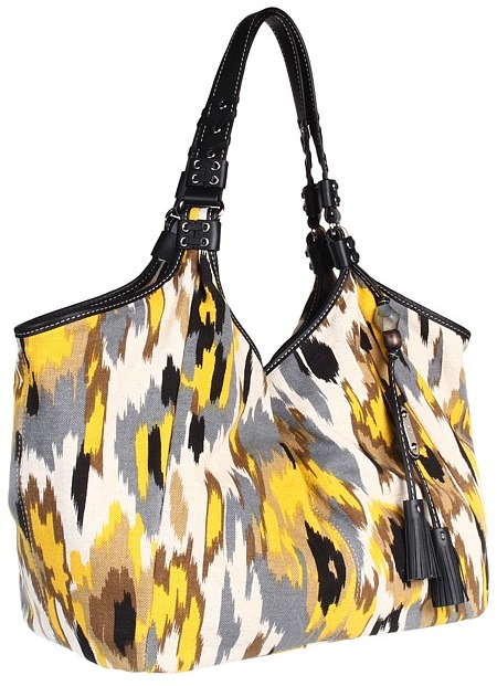 Rafe New York Steff Ikat Print Hobo (Yellow) - Bags and Luggage