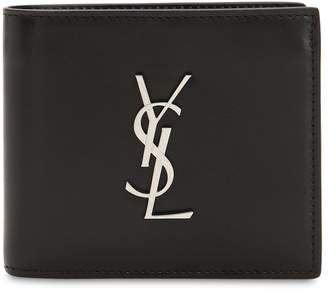 Saint Laurent East/West Logo Leather Wallet