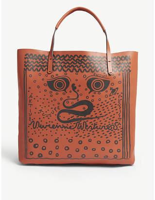 Vivienne Westwood Greek eyes leather tote
