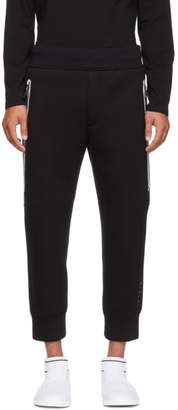 BLACKBARRETT by NEIL BARRETT Black Elongated Zip Drop Lounge Pants