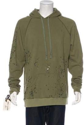 Greg Lauren 2016 Destroyed Fleece Hoodie w/ Tags