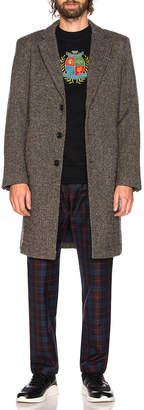 Leon Aime Dore Donegal Top Coat in Tweed | FWRD