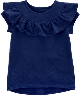 Carter's Short Sleeve Round Neck T-Shirt-Baby Girls