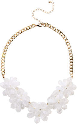 Catherine Stein White & Gold-Tone Floral Necklace