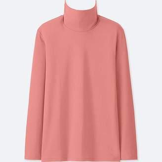 Uniqlo Women's Compact Cotton Turtleneck Long-sleeve T-Shirt