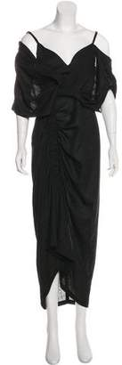 Acler Ruffle-Accented Maxi Dress