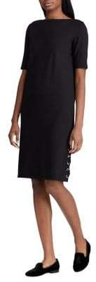 Lauren Ralph Lauren Lace-Up Elbow-Sleeve T-Shirt Dress