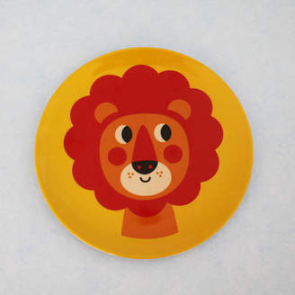 Posh Totty Designs Interiors Retro Yellow Lion Melamine Plate