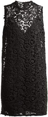 Miu Miu Round-neck macrame-lace dress