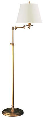 Visual Comfort & Co. Triple Swing Floor Lamp - Brass