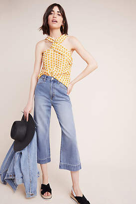 Anthropologie Wrangler Ultra High-Rise Cropped Wide-Leg Jeans
