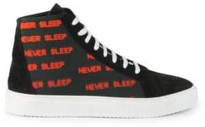 Marcelo Burlon County of Milan Never Sleep High-Top Sneakers