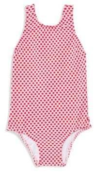 Shoshanna Little Girl's& Girl's One-Piece Polka Dot Back Bow Swimsuit