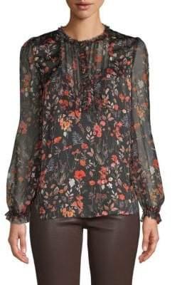 Elie Tahari Scarla Silk Floral Blouse