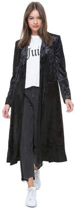Juicy Couture Crushed Velour Duster Coat
