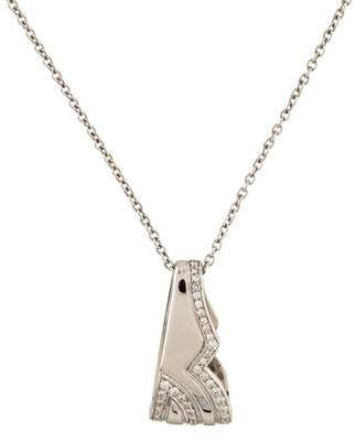 Salvatore Ferragamo 18K Diamond Pendant Necklace
