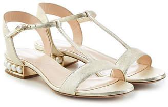 Nicholas Kirkwood Casati Leather Sandals with Pearls