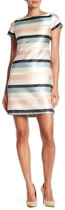 Julia Jordan Striped Boatneck Shift Dress