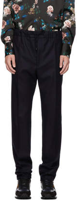 Fendi Navy Drawstring Trousers
