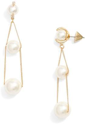 Vince Camuto Imitation Pearl Drop Earrings