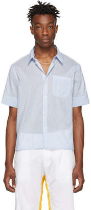 Wales Bonner Blue Pocket Short Sleeve Shirt
