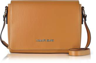 Armani Jeans Pumpkin Eco Leather Signature Medium Shoulder Bag