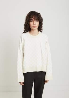 Paco Rabanne Oversized Jacquard Sweater