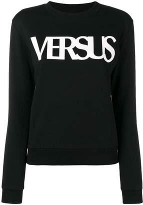 Versus long-sleeve logo-print sweatshirt
