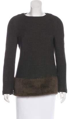 CNC Costume National Wool Long Sleeve Top