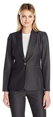 Tahari by Arthur S. Levine Women's One Button Bi-Stretch Jacket