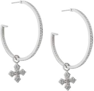 King Baby Studio large cross hoop earrings
