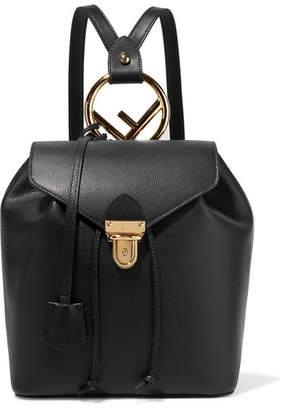 Fendi Textured-leather Backpack - Black