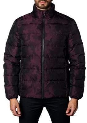 Jared Lang Geneva Camouflage Down Puffer Jacket