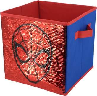 Spiderman Spider Man Marvel Reversible Sequin 10x10 Storage Cube