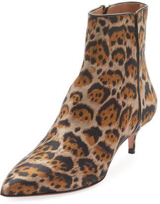 Aquazzura Quant Jacquard Leopard Bootie