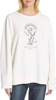 712c514de9 MM6 MAISON MARGIELA Kidswear Mascot Graphic Sweatshirt