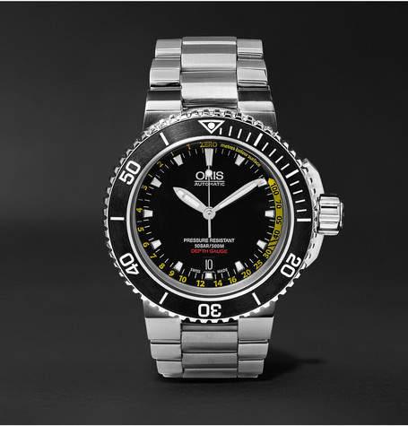 Oris Aquis Depth Gauge Stainless Steel Watch