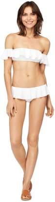 Milly Italian Solid Swim Sirolo Ruffle Bikini Bottom