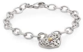 Ivy Sterling Silver & 18K Yellow Gold Heart Charm Bracelet