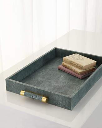 AERIN Emerald Shagreen Rectangular Tray