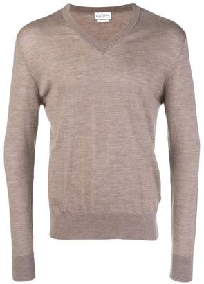 Ballantyne v-neck knitted jumper