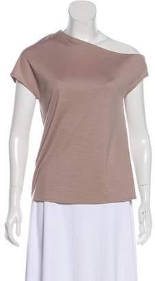 Tibi Wool One-Shoulder Top