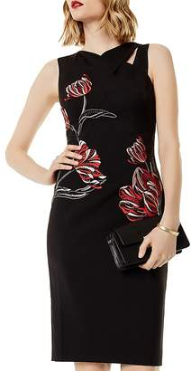 Karen Millen Embroidered Cutout Sheath Dress