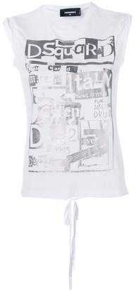 DSQUARED2 sleeveless logo print T-shirt