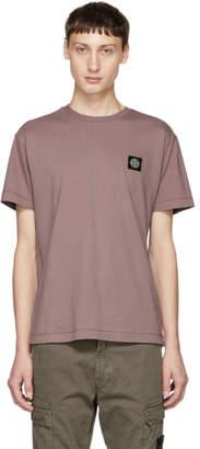 Stone Island Pink Logo Patch T-Shirt