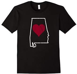 Heart In Alabama Distressed Football T-Shirt