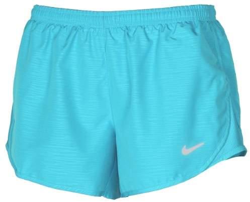 Nike Women's Dri-Fit Modern Embossed Tempo Running Shorts-Light Blue-Large